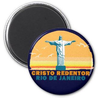 Rio - Corcovado - Jesus Christus der Redeemer Runder Magnet 5,7 Cm