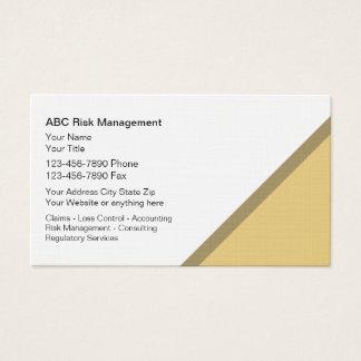 Risikomanagement-Visitenkarten Visitenkarten