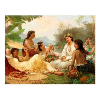 """Ritter """"des sonnigen Gegend-, Tahiti"""" - Nicholas Postkarte"""