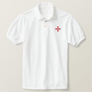 Ritter-Templar gesticktes Polo-Shirt Besticktes Polo Hemd