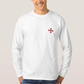 Ritter Templar lange Hülse gesticktes Shirt
