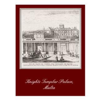 Ritter Templar Palast, Malta Postkarte