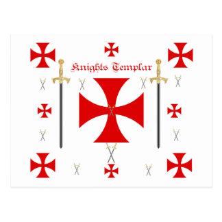 Ritter Templar Postkarte