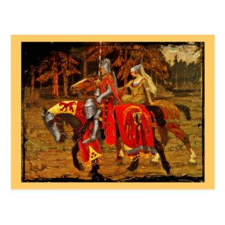 Ritter und ErstChivalry Postkarte