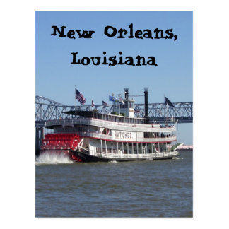Riverboat in New Orleans Postkarte