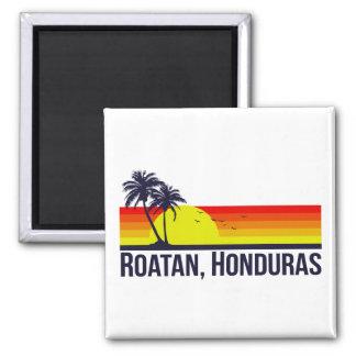 Roatan Honduras Quadratischer Magnet