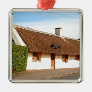 Robert brennt Hütte, Alloway, Schottland Silbernes Ornament