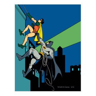Robin und Batman-Aufstieg Postkarte