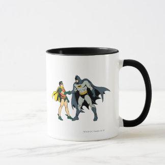 Robin und Batman-Händedruck Tasse