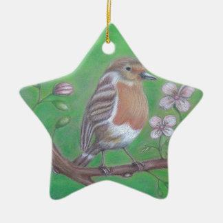 Robin-Vogel Keramik Stern-Ornament