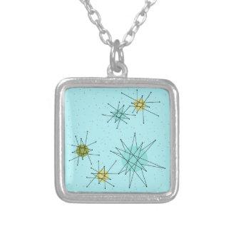 Robins Ei-blaue AtomSternexplosion-Halskette Halskette Mit Quadratischem Anhänger