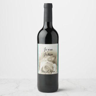 Robins Ei-blauer weißer Rosen-Wein-Aufkleber Weinetikett