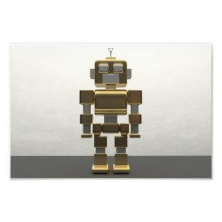 Roboter der künstlichen Intelligenz Metall Fotodruck