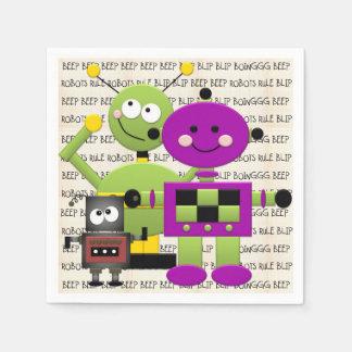 Roboter-Regel-Party-Wegwerfpapierservietten Servietten