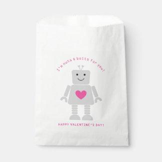 Roboter-Valentinsgruß-Bevorzugungs-Taschen Geschenktütchen