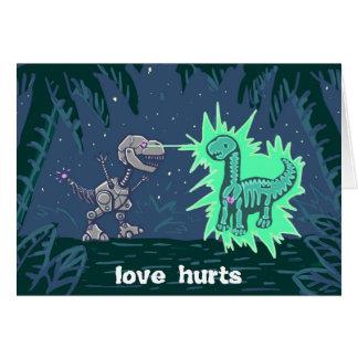Roboterdino-Liebe Karte