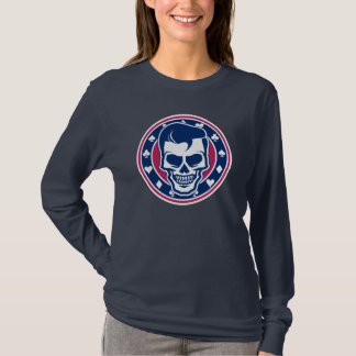 Rockabilly Schmierer-Frisur-Schädel und Asse T-Shirt