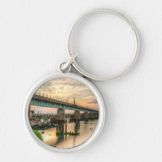 Rockaway Zug-Brücke Schlüsselanhänger