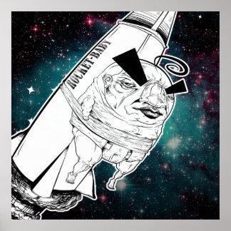 Rocket-Babydruck Poster