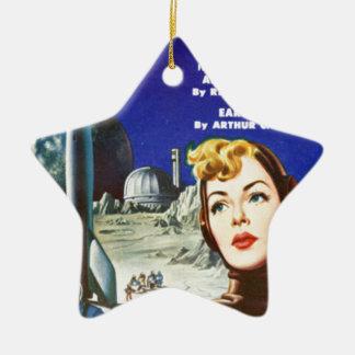 Rocket-Mädchen Keramik Stern-Ornament