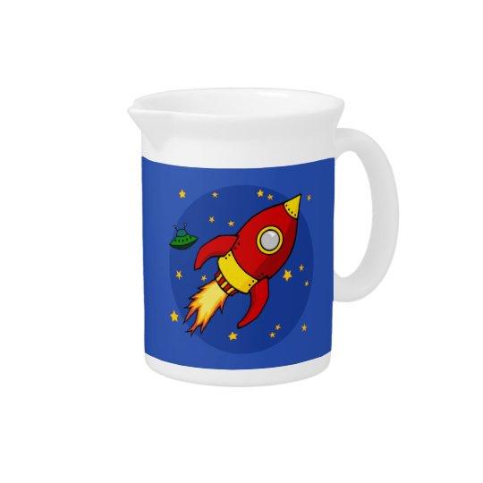 Rocket-Rot Krug