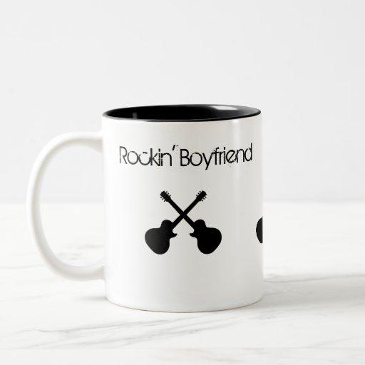 Rockin Freund, gekreuzte schwarze Gitarren Kaffee Tassen