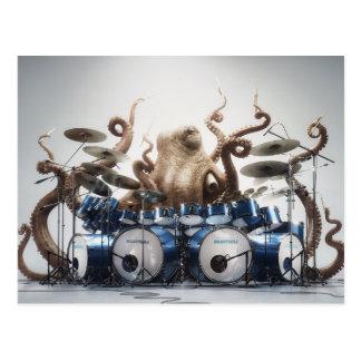 Rockin Kraken-Schlagzeuger Postkarten