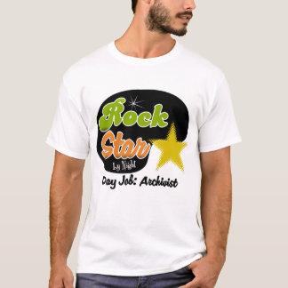 Rockstar bis zum Nacht - Tagesjob-Archivar T-Shirt