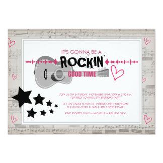 Rockstar Kindergeburtstag-Party Einladungen