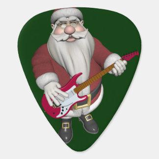 Rockstar Sankt mit roter E-Gitarre Plektron