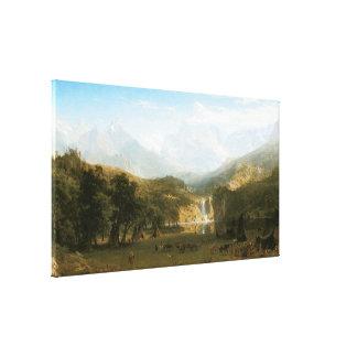 Rocky Mountains, die Spitze des Landers durch Leinwanddruck