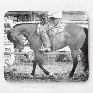 Rodeo-Pferdeaufwärmen Schwarzweiss Mousepad