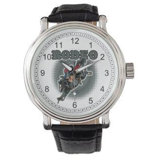 Rodeoungesattelter Bronc-Reiter Armbanduhr