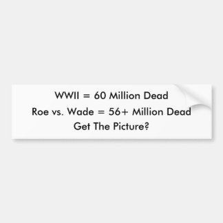 Rogen gegen Furt = 56 Million tot und Zählung Autoaufkleber