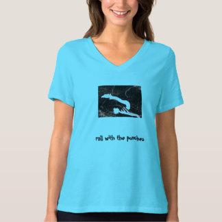 """""""Rolle mit die Durchschläge"""" Pilates Unfall T-Shirt"""