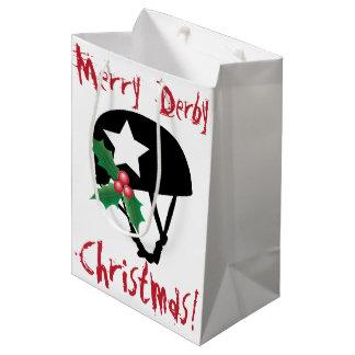 Rollen-Derby-Weihnachten, Rollen-Skaten Medium Geschenktüte