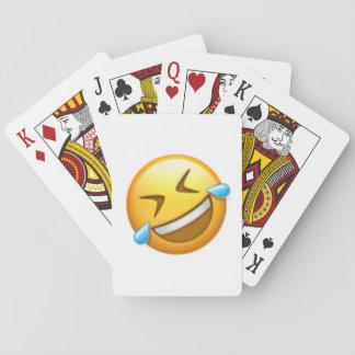 Rollen des Bodens - Emoji Spielkarten