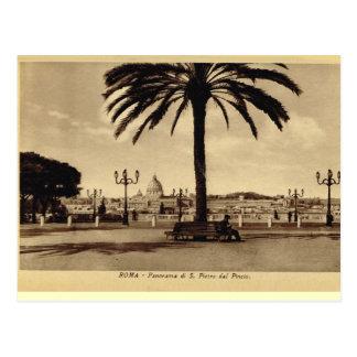 Rom, Panorama mit St Peter Postkarte