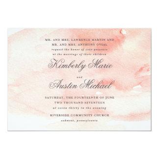Romantische Aquarell-Hochzeits-Einladung 12,7 X 17,8 Cm Einladungskarte