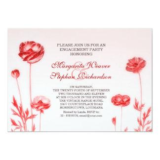 romantische BlumenVerlobungs-Party Einladungen