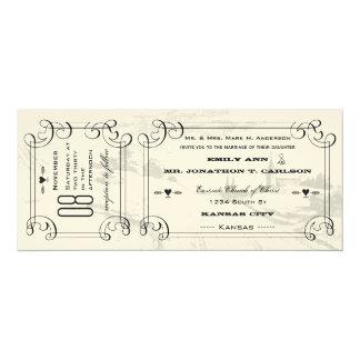 Romantische Kapellen-Land-Straßen-Karten-Hochzeit 10,2 X 23,5 Cm Einladungskarte