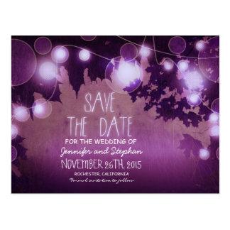 romantische lila Nacht beleuchtet Vintages Save Postkarten