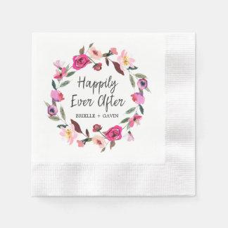 Romantische Märchen glücklich seitdem Wedding Serviette
