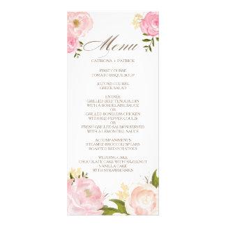 Romantische rosa Watercolor-Blumen, die Menü-Karte Werbekarte
