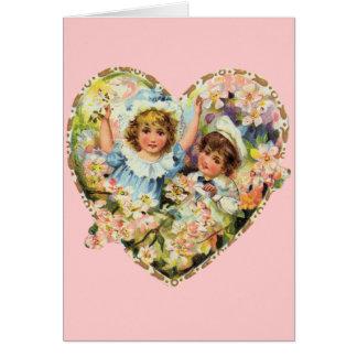 Romantische Vintage Valentines Karte