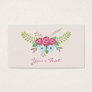 Romantische Watercolor-mit BlumenBlumen Visitenkarte