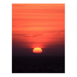 Romantischer Sonnenuntergang Postkarte