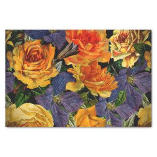 Romantisches dunkles Vintages Rosen-Blumenmuster Seidenpapier