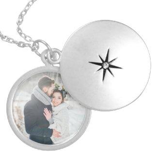 Romantisches Geschenk | Ihr persönliches Foto Versilberte Kette