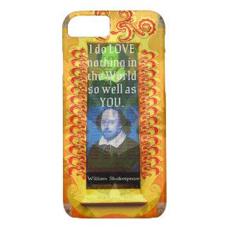 Romantisches LIEBE William Shakespeare Zitat iPhone 8/7 Hülle